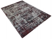 Modern rug in white and red Photo