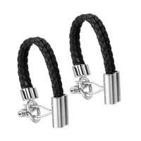 Classy French Rope and Chain Cufflinks Photo