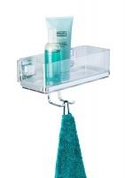 WENKO - Vacuum-Loc® Wall Shelf Hooks Quadro Range - S/Steel - No Drilling Photo