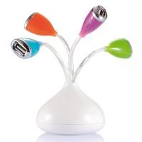 Flower 4 Port USB Hubs With LED Light Photo