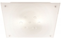 Square Ceiling Fitting with Frosted Glass and Crystals Photo