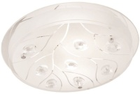 Bright Star Lighting Polished Chrome Ceiling Fitting With White Tulip Glass Photo