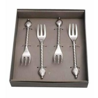 Silver Cocktail Forks in a Presentation Box Photo