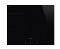 Smeg 60cm Black Glass Ceran Hob with Straight Edge Photo