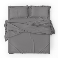 Lifson Products - Grey 1000 Thread Count Duvet Cover Set Photo