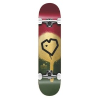 Blueprint | Skateboard| Complete | Spray Heart | Burgundy Gold | 8.125 Photo
