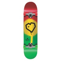 Blueprint | Skateboard| Complete | Spray Heart | Rasta | 8.0 Photo