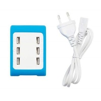 6 Port Usb Charger Blue Photo