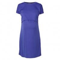 Hannah Grace Bright Blue Breastfeeding Dress Photo