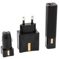 "LDNIO 3"" 1 Cellphone Charging Kit : Powerbank Wall Adapter Car Adapter Photo"
