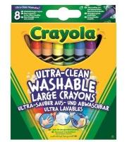 Crayola 8 Ultra Clean Big Washable Crayons Photo