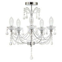 The Lighting Warehouse - Bathroom Harrington 5 Light Crystal Photo