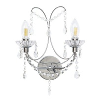 The Lighting Warehouse - Bathroom Harrington 2 Light Crystal Photo