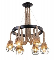 Mr. Universal Lighting - Vintage Rope Style Chandelier - 6 Photo