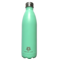 Stainless Steel Double Walled Vacuum Sealed Water Bottle - Silver Photo