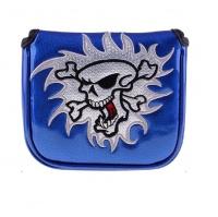 Skull Mallet Putter Cover - Blue Photo