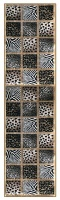 Carpet City Factory Shop Zebra and Leopard Skin Print Runner 80x3.00 Photo