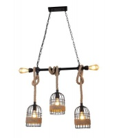 Mr Universal Lighting-Vintage Rope Style Pendant 3 2 Photo