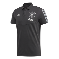 adidas Men's Manchester United Ultimate Cotton Polo Shirt - Carbon/Silver Photo