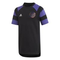 adidas Boys Paul Pogba Short Sleeve T-Shirt - Black/Purple Photo
