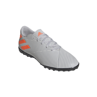 adidas Men's Nemeziz 19.4 Turf Soccer Boots - Grey/Orange Photo