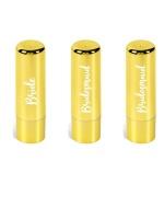 3 pack Bride & Bridesmaid Metallic Fashion Lip Balm Photo