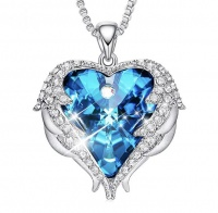 SilverCity Angel Wings Heart Necklace with Swarovski Crystals Photo