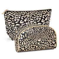 Black & Rose-Gold Cosmetic Bag Combo Photo