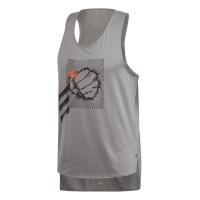 adidas Men's Decode Running Tank Top - Grey Photo