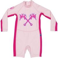 Parental Instinct Girls Quick Dry Sun Protection Hybrid Swimsuit Photo