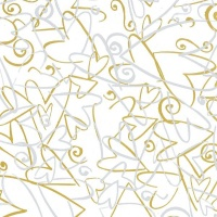 Gift Wrapping Paper 5m Roll - Silver & Gold Hearts Photo