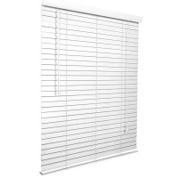 Decor Depot 50 mm Stained Basswood Venetian Blind Antique White - 800mm X 2200mm Photo