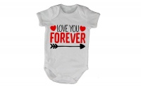 Love You Forever - Valentine Inspired - SS - White Baby Grow Photo