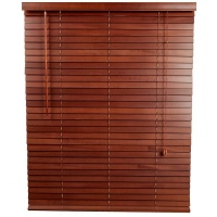Decor Depot 50 mm Stained Basswood Venetian Blind Rosewood - 800mm X 2200mm Photo