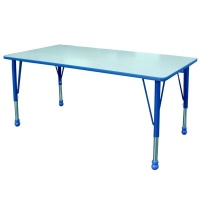 Greenbean Folding Height Adjustable School Table: 120 x 60cm Photo
