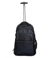 Camel Mountain Work Travel Trolley Laptop Bag - Black Photo