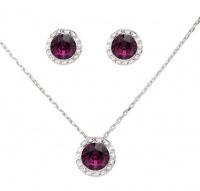 Civetta Spark Judy Set with Swarovski® Amethyst Crystal Photo