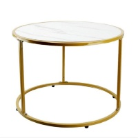 Heartdeco DIY White Marble Pattern Wooden Top Coffee Table Side Table Photo