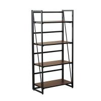 4 Tiers No-Assembly Folding Bookshelf Photo
