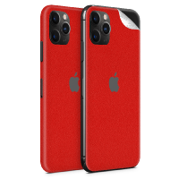 WripWraps Pure Red Vinyl Skin for iPhone 11 Pro - Two Pack Photo
