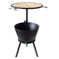 Bags Direct Eco Bar Table with Cooler Bucket - Black Photo