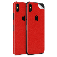 WripWraps Pure Red Vinyl Skin for iPhone X - Two Pack Photo