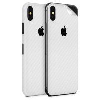 WripWraps White Carbon Fibre Vinyl Skin for iPhone X - Two Pack Photo
