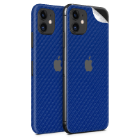 WripWraps Blue Carbon Fibre Vinyl Skin for iPhone 11 - Two Pack Photo