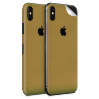 WripWraps Gold Psychedelic Vinyl Skin for iPhone XS - Two Pack Photo