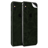 WripWraps Military Green Camo Vinyl Skin for iPhone XS - Two Pack Photo