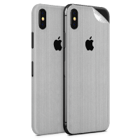 WripWraps Brushed Metal Vinyl Skin for iPhone XS - Two Pack Photo