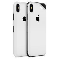 WripWraps Matte White Vinyl Skin for iPhone XS - Two Pack Photo