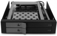 "Vantec 225S6 EZ Swap EVO - Black Dual - 2.5"" Mobile HDD Rack Photo"