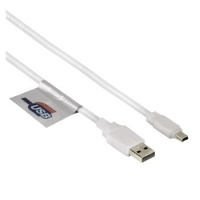 Hama USB 2.0 USB Mini Cable - Gold-Plated - Double Shielded - White - 1.8M Photo